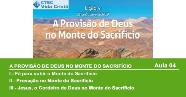 A Provisão de Deus no Monte do Sacrifício
