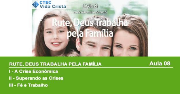 Rute: Deus trabalha pela família