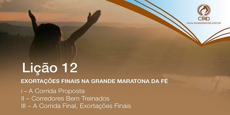 Exortações finais na Grande Maratona da Fé